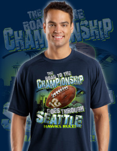 Seattle Seahawk Playoff Shirts 2014. The Road to the Championship Goes Through Seattle