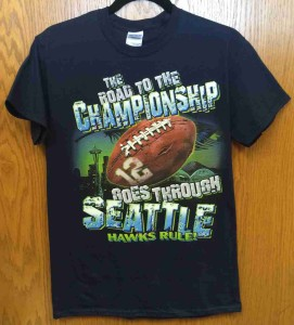 Seattle Seahawk Playoff Shirt 2015. The Road to the Championship goes through Seattle