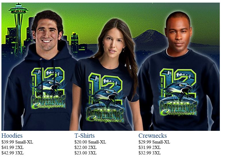 2014 Conference Champions. Seattle Seahawks shirts, Seahawk hoodies