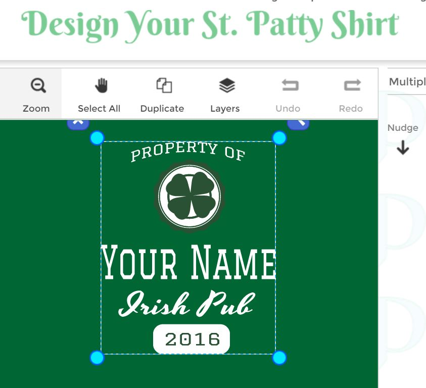 Design Your Own St. Patty's Day Shirt