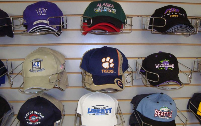 Collage of Embroidered Baseball Caps at Northwest Custom Apparel