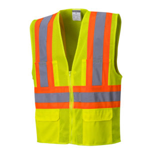 Safety Orange Hi-Vis Mesh Safety Vests