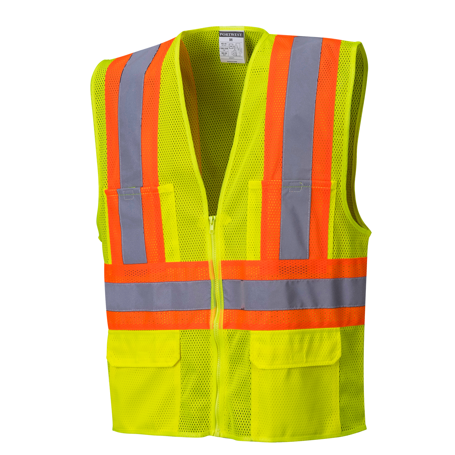 Safety Orange Hi-Vis Mesh Safety Vest