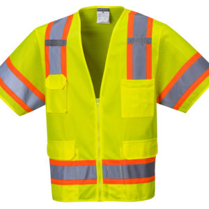 Class 3 Hi-Vis Safety Vests in Orange