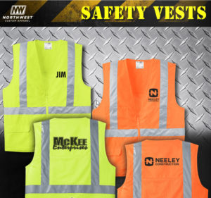 Logoed Safety Vests with Company Name