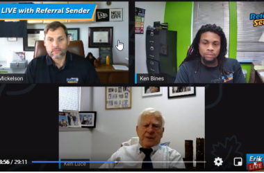 Referral Sender Show Episode One with Erik Mickelson and Ken Bines www.referralsender.com