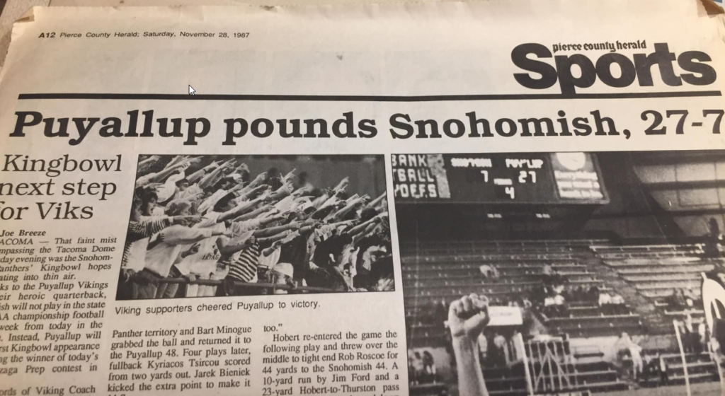 Puyallup Vikings Beat Snohomish 1987